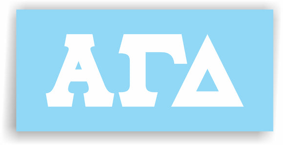Alpha Gamma Delta – White Vinyl Decals for Car, Computer or anywhere
