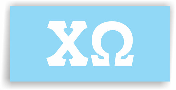 Chi Omega – White Vinyl Decals for Car, Computer or anywhere