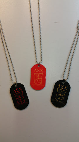 Delta Sigma Chi - Dog Tags with Crest
