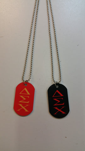 Delta Sigma Chi - Dog Tags with Letters