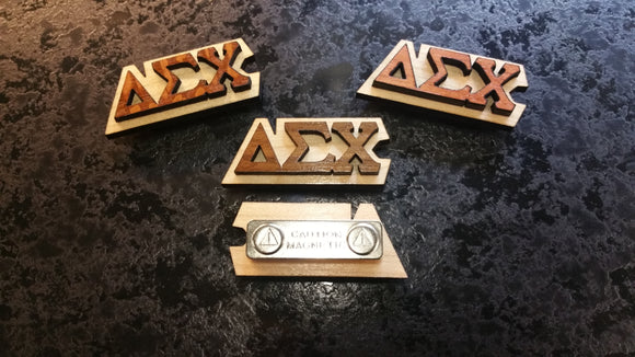 Delta Sigma Chi - Exotic Woods Magnetic Pins