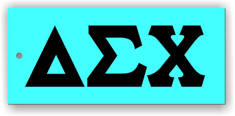 delta sigma chi decal with letters