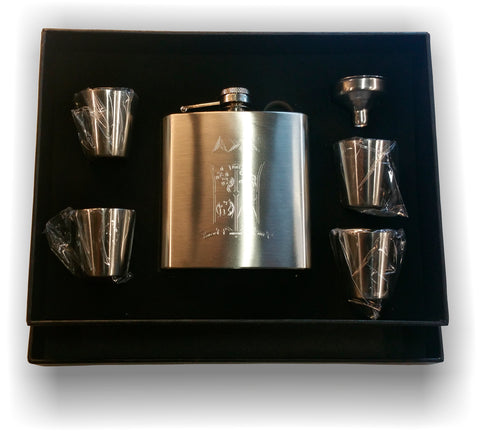 Delta Sigma Chi - Stainless Steele Flask Set
