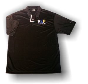 Epsilon Sigma Rho - DryFit Nike Black Polo with Greek Multi-Color Letters
