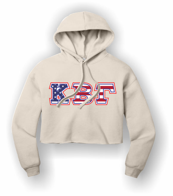 Kappa Beta Gamma - BC7502 BELLA+CANVAS ® Women's Sponge Fleece Cropped Fleece Hoodie