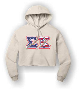 Sigma Kappa - BC7502 BELLA+CANVAS ® Women's Sponge Fleece Cropped Fleece Hoodie