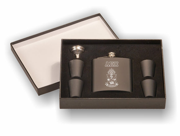 Alpha Epsilon Pi – Flask Set, (Engraved)-FSK651SETA, FSK652SETA