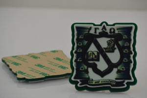 Gamma Alpha Omega - Self Adhesive Crest - Shield for Decorating