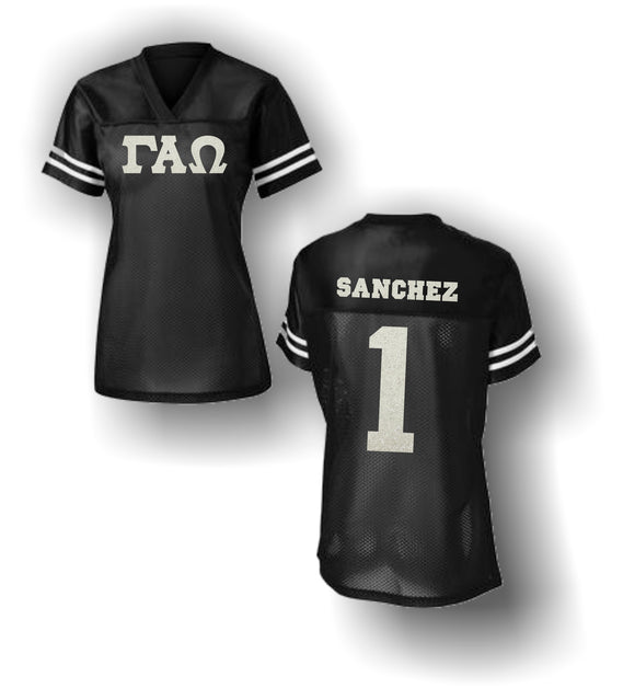 Gamma Alpha Omega - LST307 Ladies Fitted Football Jersey