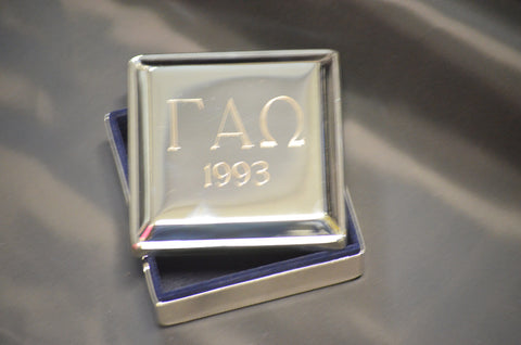 Gamma Alpha Omega - Engraved Jewelry Box