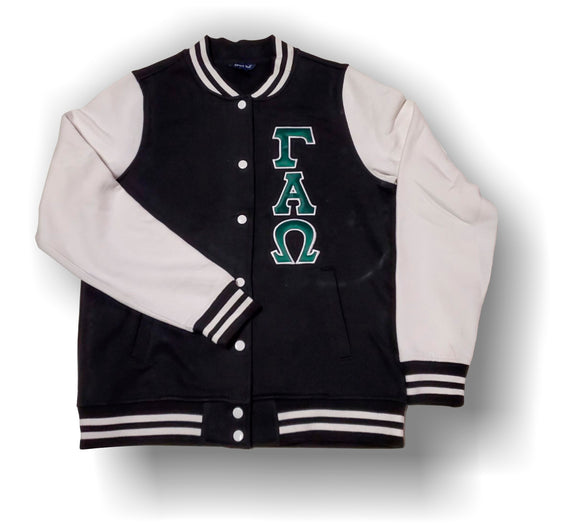 Gamma Alpha Omega -LST270 Ladies Fleece Letterman Jacket with Letters