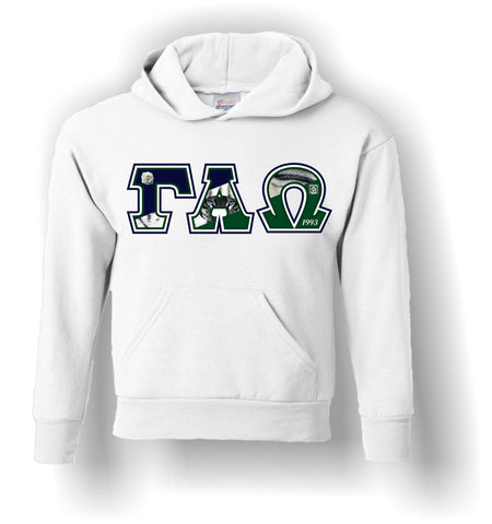 Gamma Alpha Omega - Hoodie with Gamma Tigress Letters