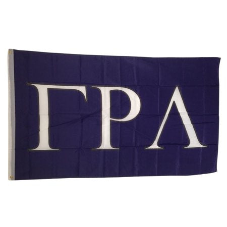 Gamma Rho Lambda - 3'x5' Purple Flag with Letters