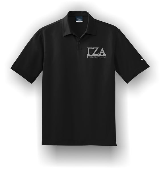 Gamma Zeta Alpha - Nike Dri-FIT Pebble Texture Polo. 373749 With Letters
