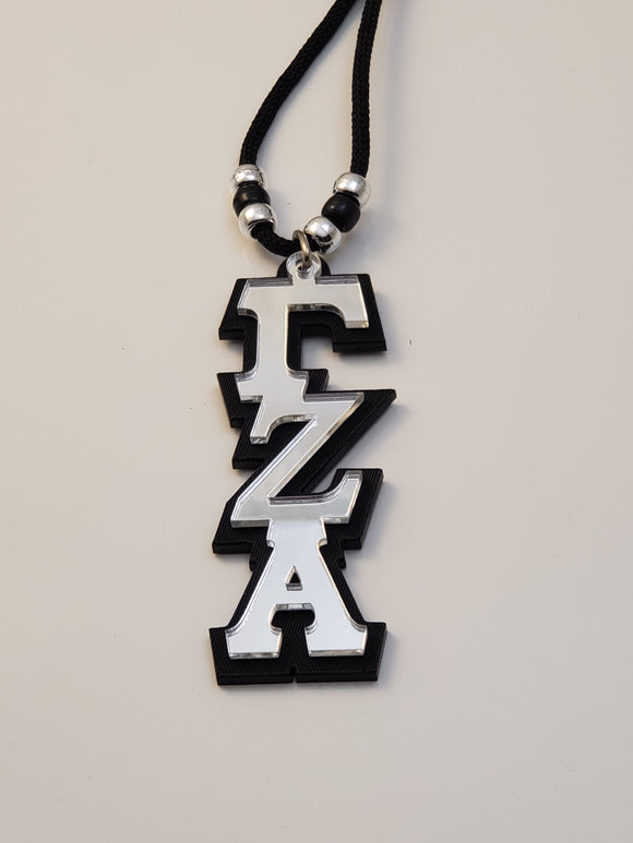 Gamma Zeta Alpha - Tiki with Mirror Front and Black Background