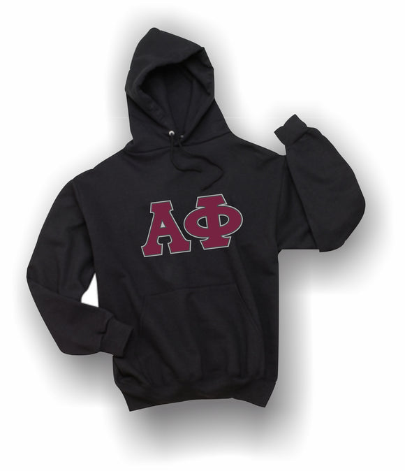 Alpha Phi - Hooded Sweatshirt, Embroidered (Double Stitched) - 4997M JERZEES® SUPER SWEATS®