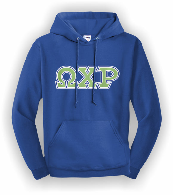 Omega Chi Rho - Hooded Sweatshirt, Embroidered(Double Stitched) - 4997M JERZEES® SUPER SWEATS®