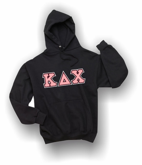Kappa Delta Chi - Hooded Sweatshirt, Embroidered (Double Stitched) - 4997M JERZEES® SUPER SWEATS®