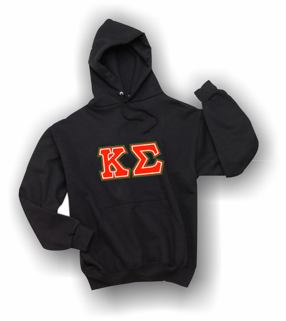 Kappa Sigma - Hooded Sweatshirt, Embroidered (Double Stitched) - 4997M JERZEES® SUPER SWEATS®