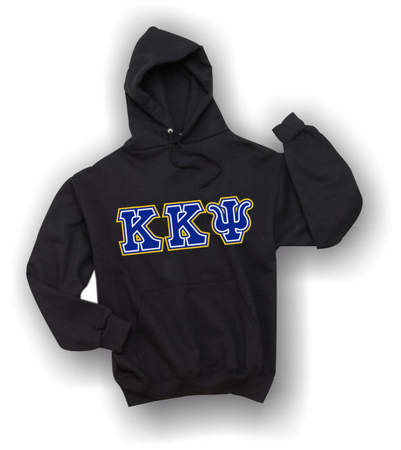Kappa Kappa Psi - Hooded Sweatshirt, Embroidered (Double Stitched) - 4997M JERZEES® SUPER SWEATS®