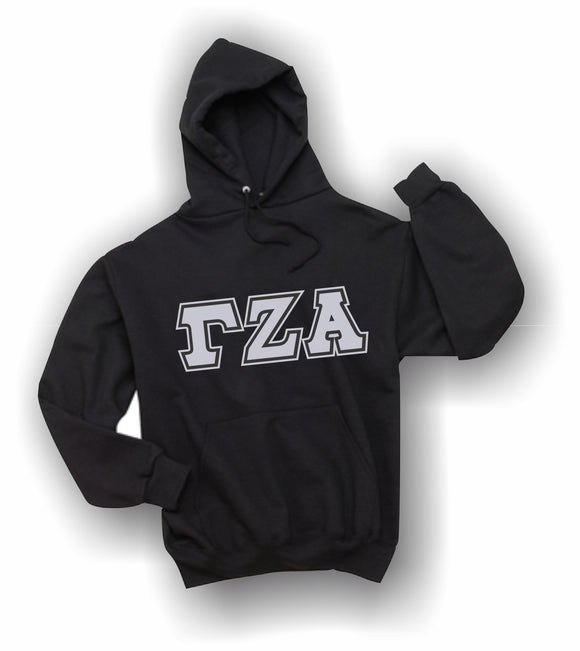 Gamma Zeta Alpha - Hooded Sweatshirt, Embroidered (Double Stitched) - 4997M JERZEES® SUPER SWEATS®