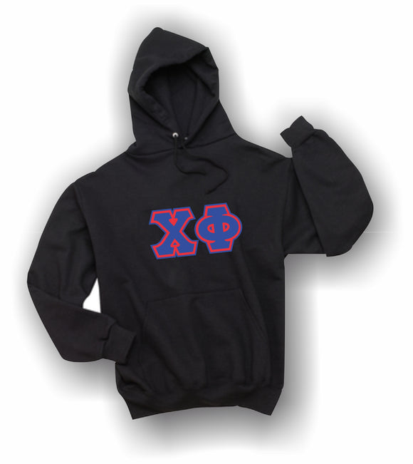 Chi Phi - Hooded Sweatshirt, Embroidered (Double Stitched) - 4997M JERZEES® SUPER SWEATS®
