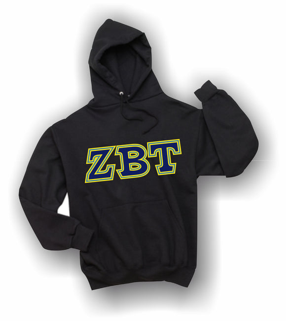 Zeta Beta Tau - Hooded Sweatshirt, Embroidered (Double Stitched) - 4997M JERZEES® SUPER SWEATS®