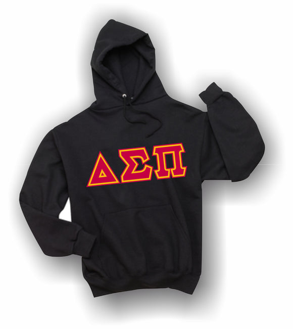 Delta Sigma Pi - Hooded Sweatshirt, Embroidered (Double Stitched) - 4997M JERZEES® SUPER SWEATS®