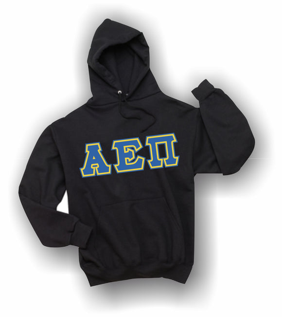 Alpha Epsilon Pi - Hooded Sweatshirt, Embroidered (Double Stitched) - 4997M JERZEES® SUPER SWEATS®