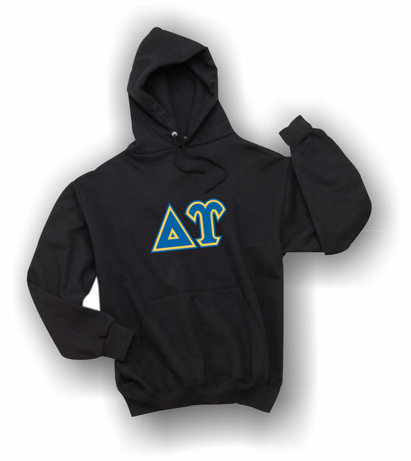 Delta Upsilon - Hooded Sweatshirt, Embroidered (Double Stitched) - 4997M JERZEES® SUPER SWEATS®