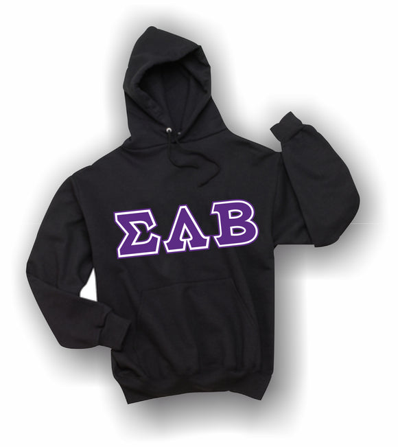 Sigma Lambda Beta - Hooded Sweatshirt, Embroidered (Double Stitched) - 4997M JERZEES® SUPER SWEATS®