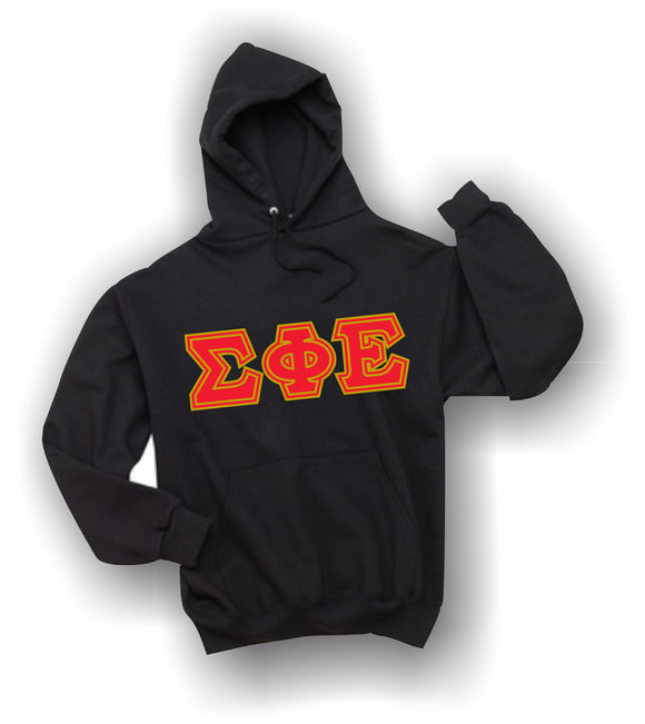 Sigma Phi Epsilon - Hooded Sweatshirt, Embroidered (Double Stitched) - 4997M JERZEES® SUPER SWEATS®