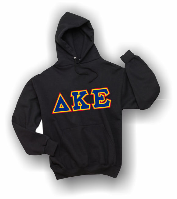 Delta Kappa Epsilon - Hooded Sweatshirt, Embroidered (Double Stitched) - 4997M JERZEES® SUPER SWEATS®