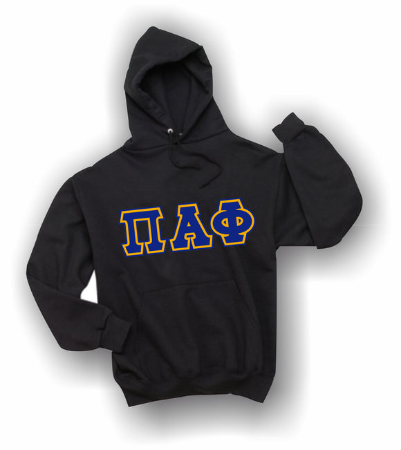 Pi Alpha Phi - Hooded Sweatshirt, Embroidered (Double Stitched) - 4997M JERZEES® SUPER SWEATS®