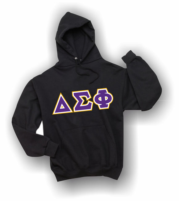 Delta Sigma Phi - Hooded Sweatshirt, Embroidered (Double Stitched) - 4997M JERZEES® SUPER SWEATS®