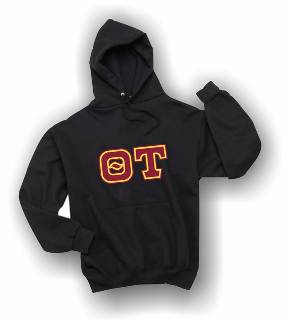 Theta Tau - Hooded Sweatshirt, Embroidered (Double Stitched) - 4997M JERZEES® SUPER SWEATS®