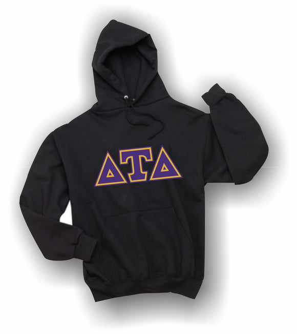 Delta Tau Delta - Hooded Sweatshirt, Embroidered (Double Stitched) - 4997M JERZEES® SUPER SWEATS®
