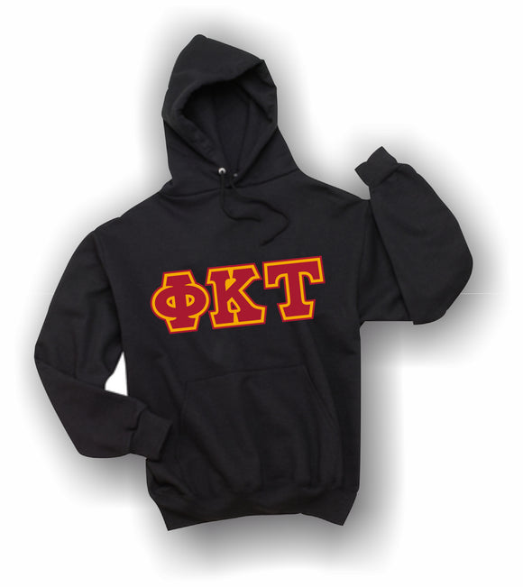 Phi Kappa Tau - Hooded Sweatshirt, Embroidered (Double Stitched) - 4997M JERZEES® SUPER SWEATS®