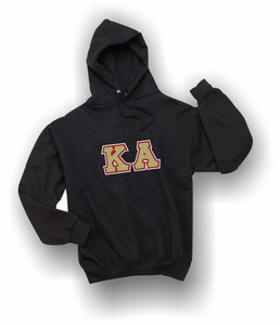 Kappa Alpha - Hooded Sweatshirt, Embroidered (Double Stitched)  - 4997M JERZEES® SUPER SWEATS®