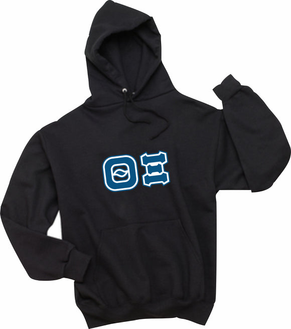 Theta Xi - Hooded Sweatshirt, Embroidered (Double Stitched) - 4997M JERZEES® SUPER SWEATS®