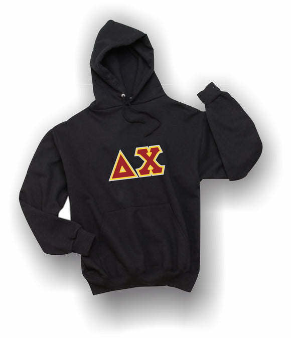Delta Chi - Hooded Sweatshirt, Embroidered (Double Stitched) - 4997M JERZEES® SUPER SWEATS®