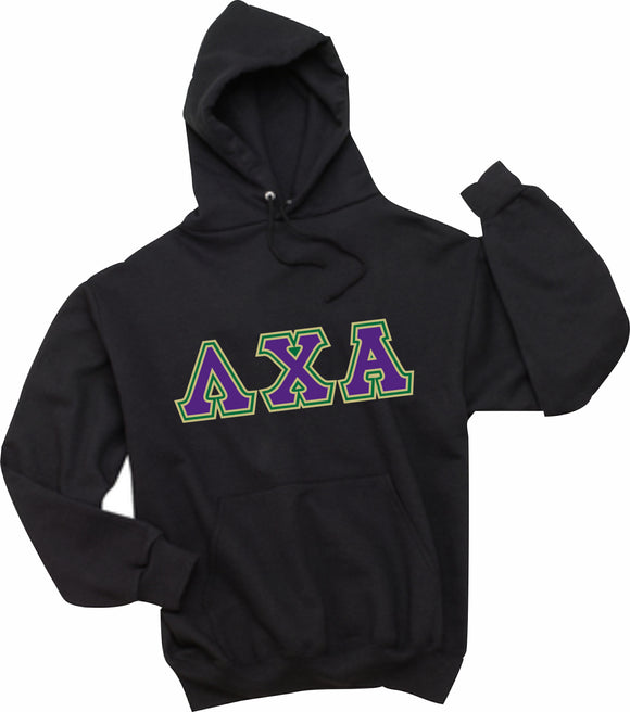 Lambda Chi Alpha - Hooded Sweatshirt, Embroidered (Double Stitched)  - 4997M JERZEES® SUPER SWEATS®