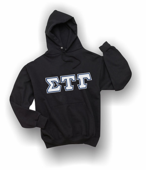 Sigma Tau Gamma - Hooded Sweatshirt, Embroidered (Double Stitched) - 4997M JERZEES® SUPER SWEATS®