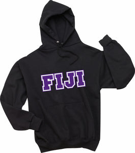 Phi Gamma Delta, FIJI - Hooded Sweatshirt, Embroidered (Double Stitched) - 4997M JERZEES® SUPER SWEATS®