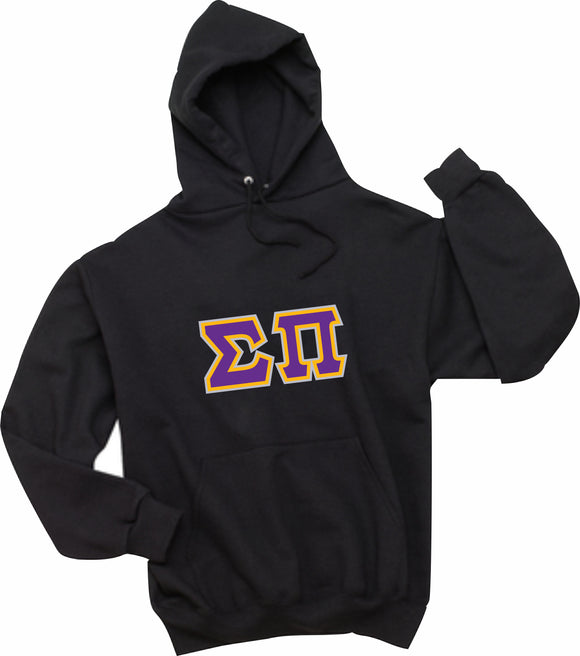 Sigma Pi - Hooded Sweatshirt, Embroidered (Double Stitched) - 4997M JERZEES® SUPER SWEATS®