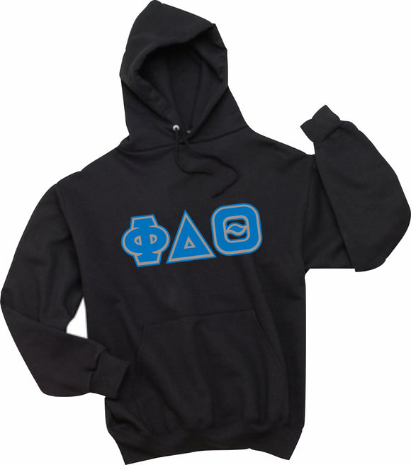 Phi Delta Theta - Hooded Sweatshirt, Embroidered (Double Stitched)  - 4997M JERZEES® SUPER SWEATS®