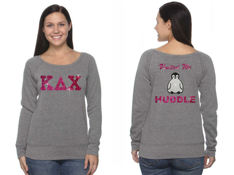 Kappa Delta Chi - Bella 7501 Sponge Fleece Wide Neck Sweatshirt - Huddle Print