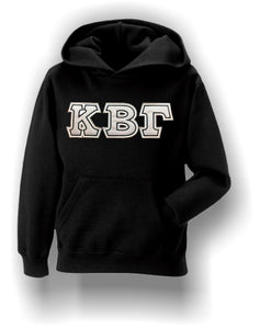 Kappa Beta Gamma - Heavy Weight Hoodie with Double Stitched Letters