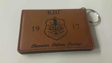 Kappa Beta Gamma - Leatherette ID Wallet