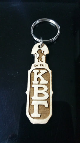 Kappa Beta Gamma - Wood Paddle Keychain